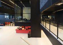 Interior moderno da biblioteca fotos de stock