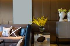 Interior moderno da casa imagem de stock royalty free