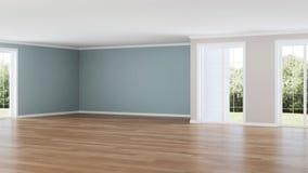 Interior moderno da casa Quarto vazio Imagem de Stock