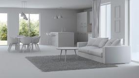 Interior moderno da casa reparos Interior cinzento Fotos de Stock