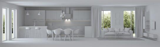 Interior moderno da casa reparos Interior cinzento Foto de Stock