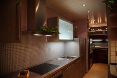 Interior moderno da cozinha. Fotografia de Stock Royalty Free