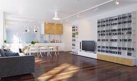 Interior moderno da cozinha Foto de Stock