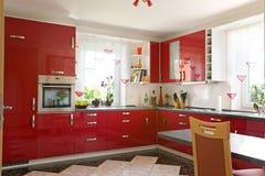 Interior moderno da cozinha. Fotografia de Stock
