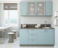 Interior moderno da cozinha. Fotos de Stock Royalty Free