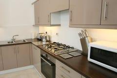 Interior moderno da cozinha Fotos de Stock Royalty Free
