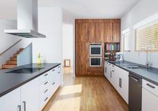 Interior moderno da cozinha ilustração royalty free