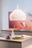 Interior moderno da cozinha com vegetais Fotos de Stock Royalty Free