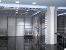 Interior moderno da loja Imagem de Stock Royalty Free
