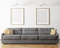 Interior moderno da rendição da sala de visitas 3d Imagem de Stock Royalty Free