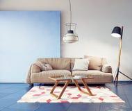 Interior moderno da sala Imagens de Stock Royalty Free