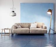 Interior moderno da sala Imagem de Stock Royalty Free