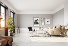 Interior moderno da sala de visitas Imagem de Stock