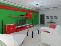 Interior moderno da sala de visitas Ilustração Stock