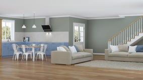 Interior moderno de la casa Proyecto de diseño Foto de archivo libre de regalías