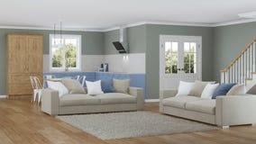 Interior moderno de la casa Proyecto de diseño Foto de archivo