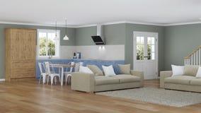 Interior moderno de la casa Proyecto de diseño Fotografía de archivo libre de regalías