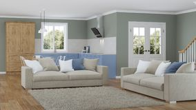 Interior moderno de la casa Proyecto de diseño Imagenes de archivo