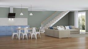 Interior moderno de la casa Proyecto de diseño Fotos de archivo libres de regalías