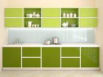 Interior moderno de la cocina. stock de ilustración