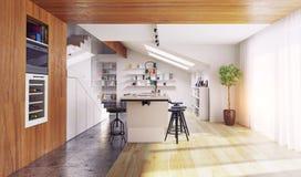Interior moderno de la cocina Foto de archivo