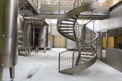 Interior moderno de la fábrica del vino Imagenes de archivo