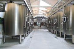 Interior moderno de la fábrica del vino Imágenes de archivo libres de regalías