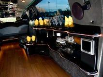 Interior moderno de la limusina imagen de archivo