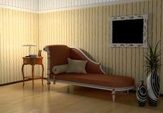 Interior moderno de la noche Fotografía de archivo libre de regalías