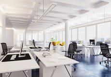 Interior moderno de la oficina del desván Fotografía de archivo libre de regalías
