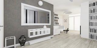 Interior moderno de la representación de la sala de estar Imagen de archivo
