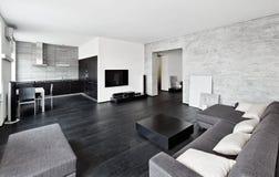 Interior moderno de la sala del estilo del minimalism imágenes de archivo libres de regalías