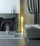 Interior moderno de mármore Fotos de Stock Royalty Free