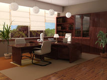 Interior moderno de um gabinete imagem de stock royalty free