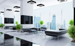 Interior moderno de um salão Imagens de Stock