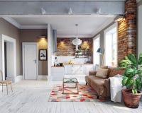 Interior moderno del apartamento Fotografía de archivo