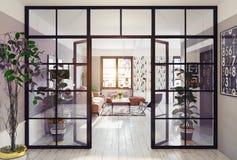 Interior moderno del apartamento Imagen de archivo libre de regalías
