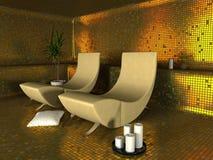 Interior moderno del balneario Imagen de archivo libre de regalías
