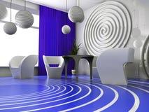 Interior moderno del café Imagen de archivo libre de regalías