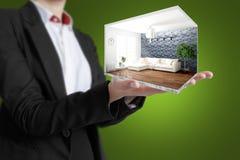 Interior moderno del concepto representación 3d Foto de archivo libre de regalías