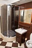 Interior moderno del cuarto de baño Imagen de archivo libre de regalías