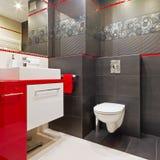 Interior moderno del cuarto de baño Imágenes de archivo libres de regalías