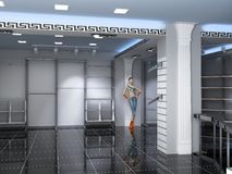 Interior moderno del departamento Imagen de archivo libre de regalías