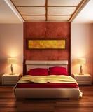 Interior moderno del dormitorio del estilo Fotografía de archivo libre de regalías