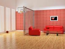 Interior moderno del estudio del deporte Foto de archivo