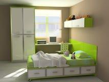 Interior moderno del niño-cuarto Fotos de archivo libres de regalías