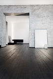 Interior moderno del pasillo del estilo del minimalism Fotografía de archivo libre de regalías
