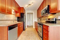 Interior moderno del sitio de la cocina Foto de archivo libre de regalías
