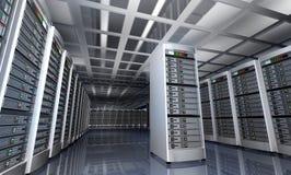 Interior moderno del sitio del servidor en datacenter libre illustration