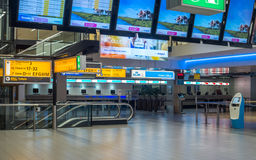 Interior moderno do aeroporto internacional Fotografia de Stock Royalty Free